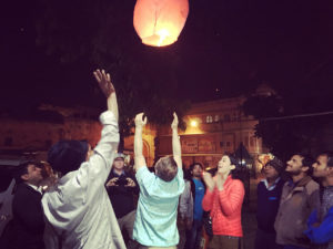 Pic of my l2017 birthday, releasing a chinese lantern.